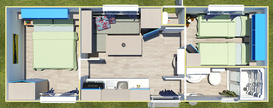 Mobile homes homes on wheels housing modules for campsites for Casa mobile