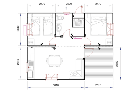 Mobile homes homes on wheels housing modules for campsites - Disegno pianta casa ...